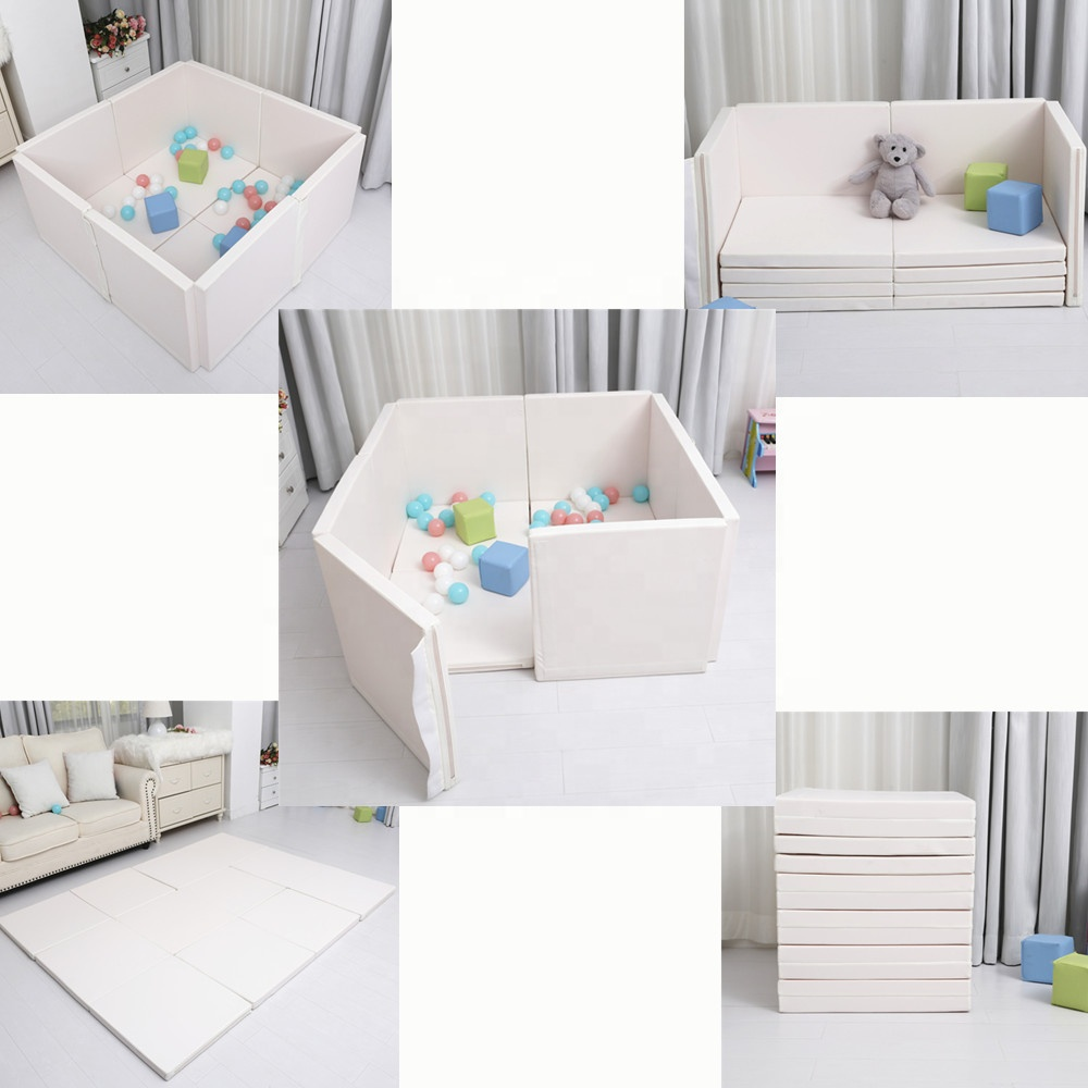 2018 new baby play yard multifunctional playpen/creeping folding mat with High density EPE foam