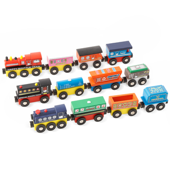New style hot sale wooden magnetic train car toy assemble toy wooden train fit for thomas train