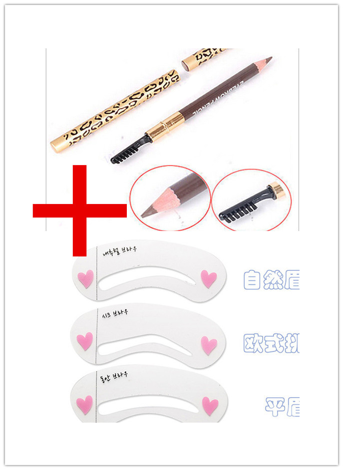 photo about Eyebrow Shapes Stencils Printable titled 3 Eyebrow Shaping Stencils Grooming Package Make-up Applications+1 Eye Forehead Pencil Brush shadow for eyebrow pencil maquillage make-up styling - Unfair Excess weight
