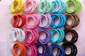 100pcs 25 colors 11cm Child Girls Elastic Hair Bands Good Quality Hair Rope JD Card Packing