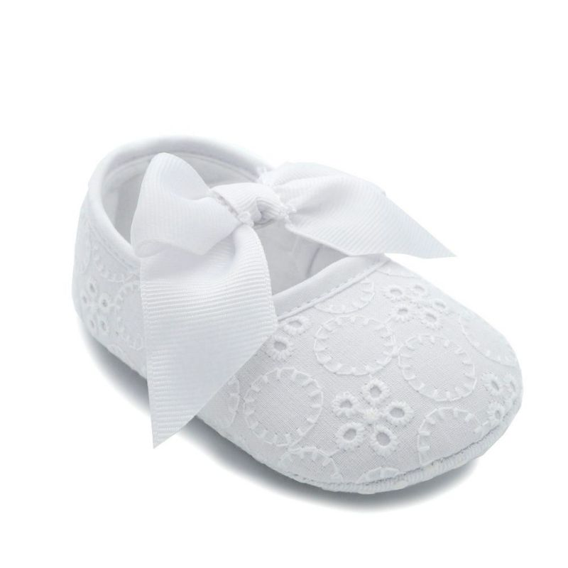 Lot Big Butterfly Knot Decorate Solid White Baby Shoes Toddler Princess Shoes First Walkers