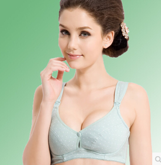 Maternity nursing bra with underwire 100 cotton maternity underwear breastfeeding clothes front open button 34 42