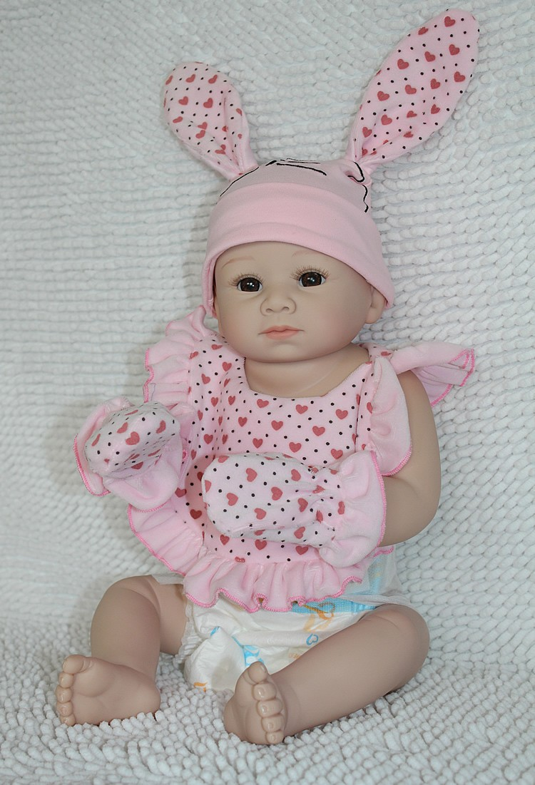 22 Inch Real Baby Doll Soft Silicone Vinyl Reborn Girl Lifelike Handmade Washing Ebay