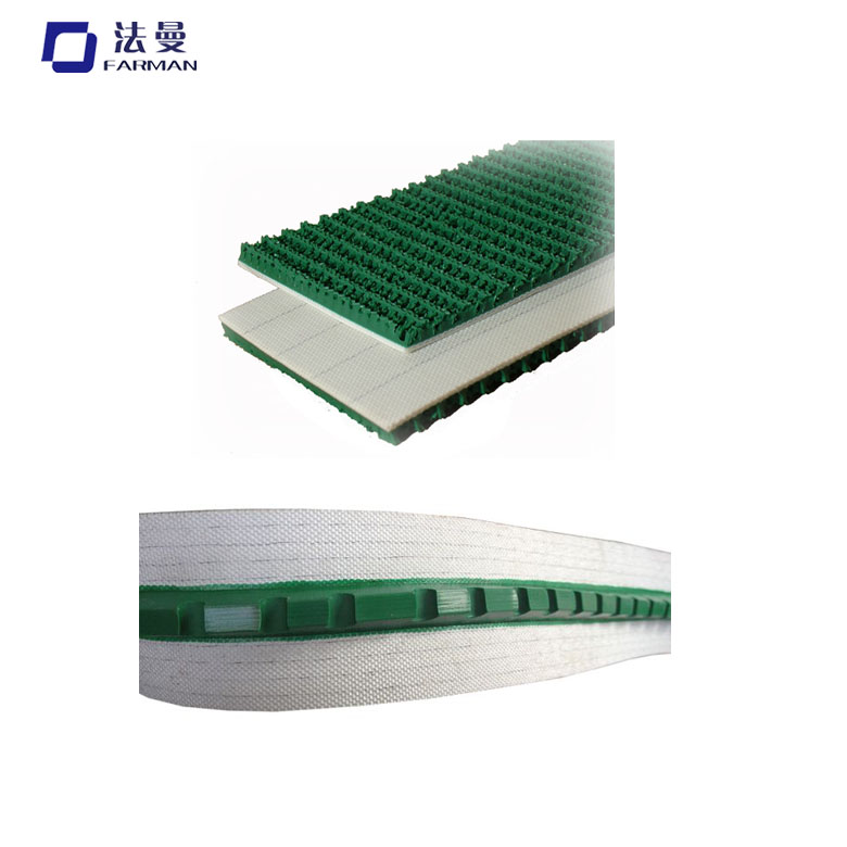 Quzhou Manufacturer Pvc Green Conveyor Belt With Guide Strip