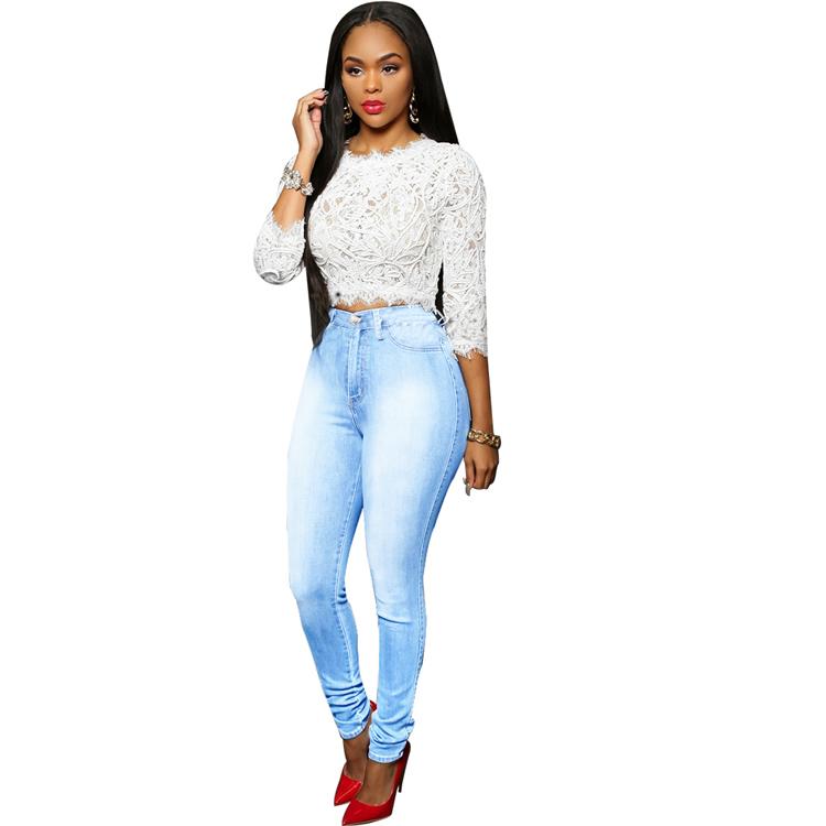 Pantalones Vaqueros De Cintura Alta Para Mujer Pantalon De Mezclilla Azul Claro Lavado De Mono Lapiz 2020 Buy Pantalones Vaqueros De Mujer Pantalones Vaqueros Ajustados De Lapiz De Mujer Pantalones Vaqueros Ajustados De Mujer Product On Alibaba Com