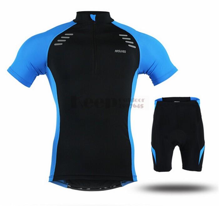 111792efb ༼ ộ ộ ༽ARSUXEO Men s Summer Short Short Sleeve Cycling Jersey ...
