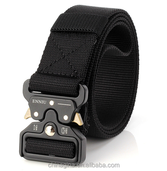 "1.5"" Military Style Nylon Webbing Riggers Heavy Duty Waist Tactical Belt men with Quick-Release Metal Buckle"
