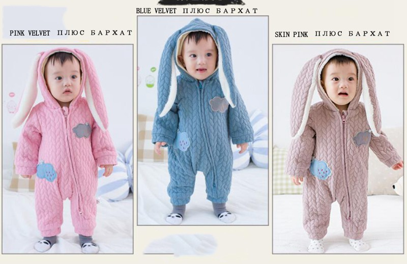 f54725043607 2019 60 100cm Cute Rabbit Ear Baby Boy Girls Clothes Newborn Clothes ...
