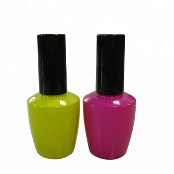 15ml OPI Shaped Colored Glass Empty UV Gel Nail Polish Bottles
