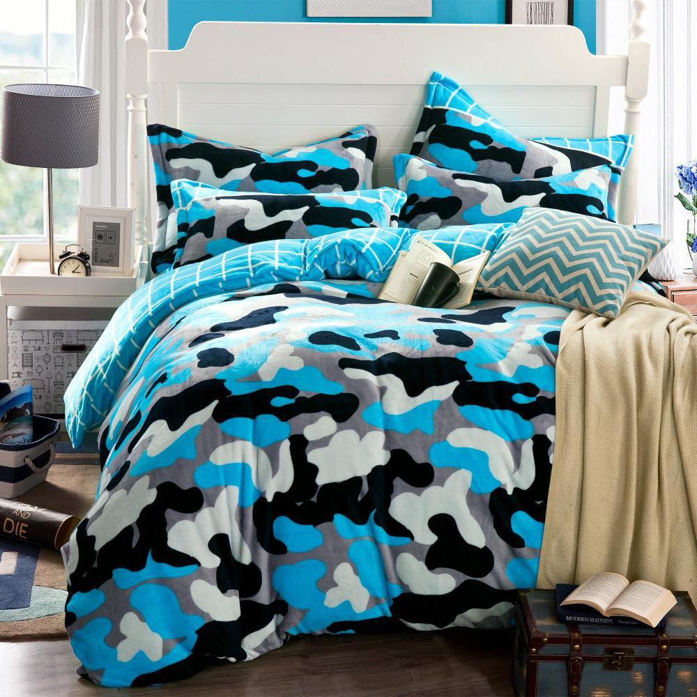 camouflage duvet cover blue bed sheets funda nordica housse de couette nautical bedding cheap. Black Bedroom Furniture Sets. Home Design Ideas