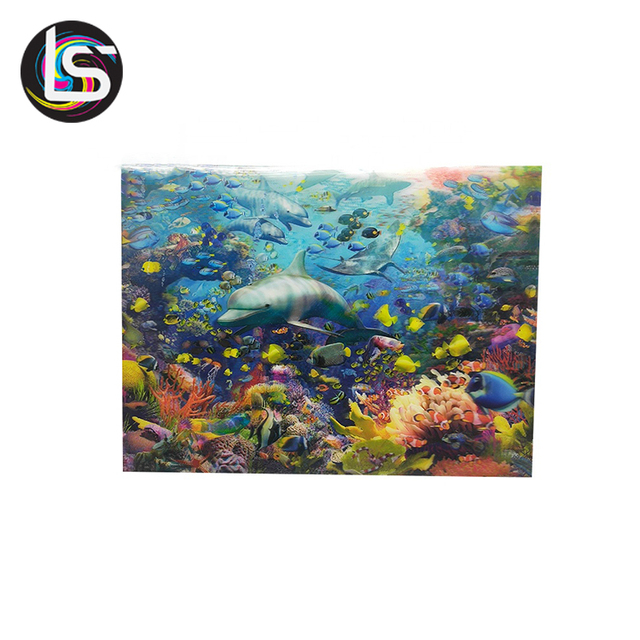 High quality lenticular frame picture beautiful print 3d wall poster