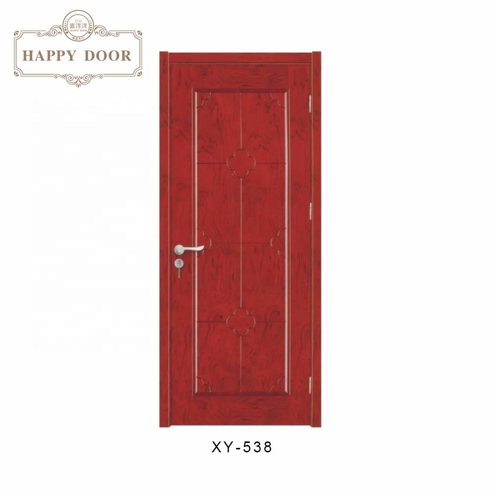 Antique Style Solid flat teak wood main door designs American Simple Exterior entry door