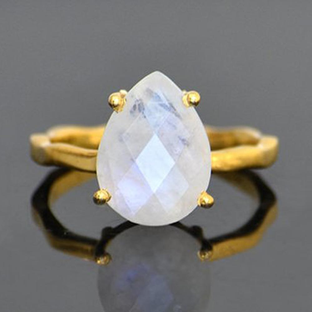rainbow moonstone ring Natural Moonstone Ring 925 Sterling Silver