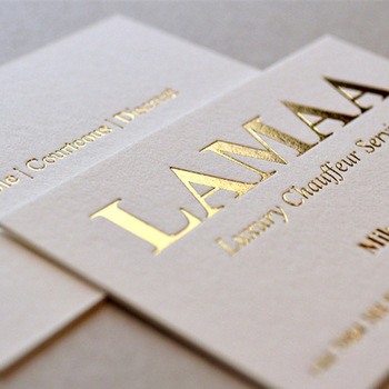 Elegant Gold Silver Foil Emboss Finishing White Paper Custom Business Printing Card