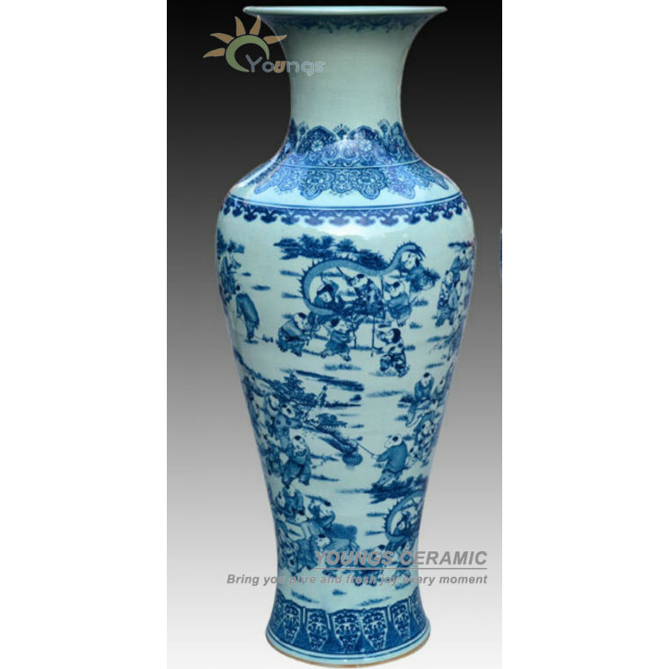 1 Meter Tall Blue White Porcelain Antique Crackle Glazed Floor Flower Vase With Kids Design Buy Tall Indoor Vases Home Decor Floor Vases Ceramic Tall Floor Vases Product On Alibaba Com
