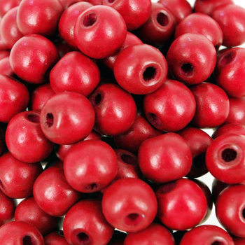 Dark Red Round Wooden Beads Dyed Lead Free Car Seat Bead Wood Bracelets 6-22mm