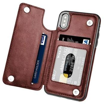Retro PU Flip Wallet Leather Case for iPhone 12 Pro Max mini 11 X 6 6s 7 8 Plus XS Multi Card Holders Phone Cases