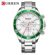 Часы CURREN Мужские, модные, кварцевые, стальные, деловые, водонепроницаемые(Китай)