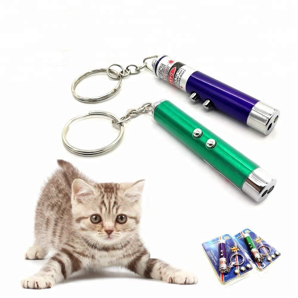 Cat Juguete Interactivo LED Luz Beam Puntero Juguete del Animal dom/éstico Herramienta de rasgu/ño de Ejercicio Negro