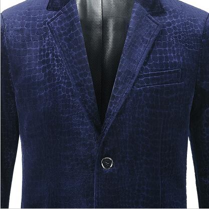 0bb4e9c5f9ef3 ... Blue Velvet Blazer Print Plus Size S-3XL Men Blazer Designs Royal Blue  Coffee Brand ...