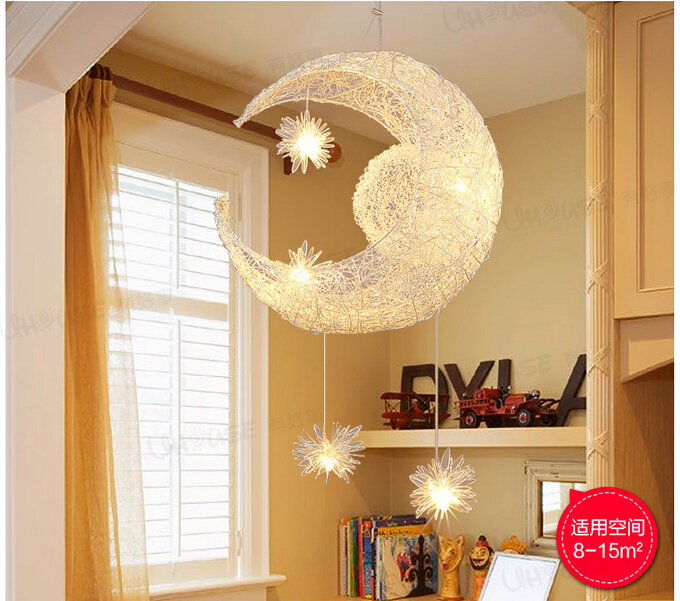 Moon Lights Bedroom: Free Shipping Newly Modern Moon Star LED Pendant Lamp For