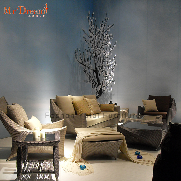Heavy duty hotel villa home backyard project design patio outdoor furniture set sofa