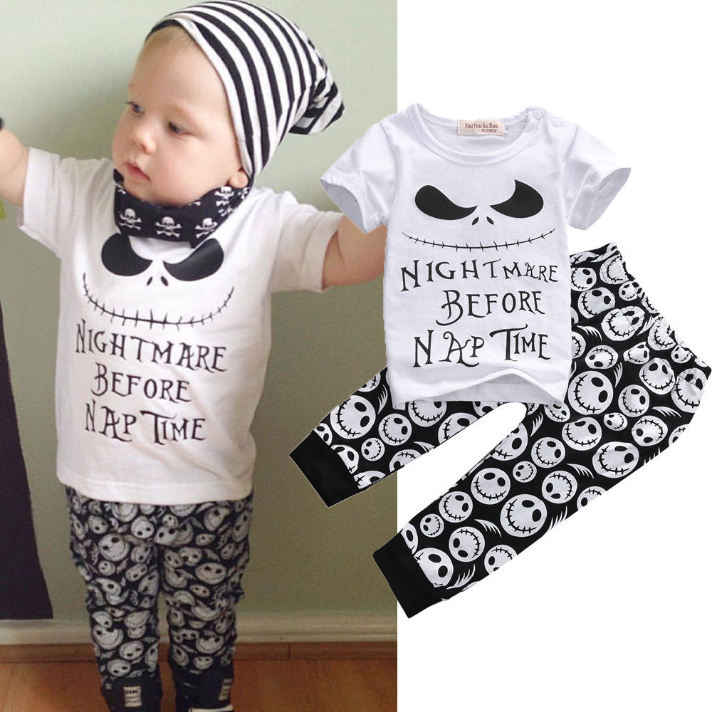 Kids Baby Boy Or Girl Halloween Clothes With T-Shirt Pants Hat Outfits Tracksuit