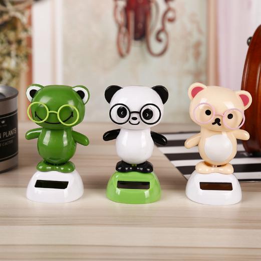 Рекламные подарки, игрушки на заказ, пластиковые панды, движущиеся игрушки на солнечных батареях