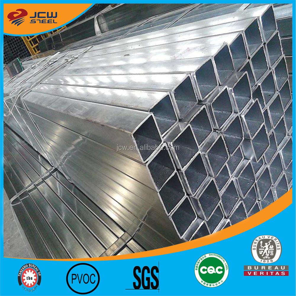 Best price square steel pipe 150x50x2mm Q235b Galvanised RHS Steel
