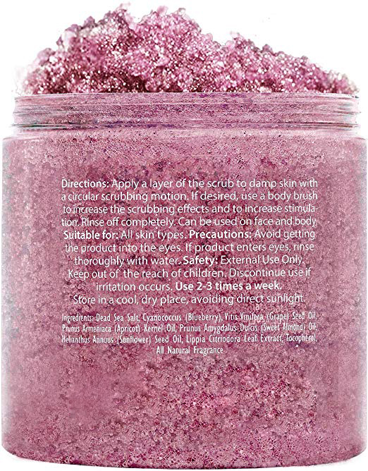 private Label Blueberry Body Scrub Exfoliator Whitening face Scrub