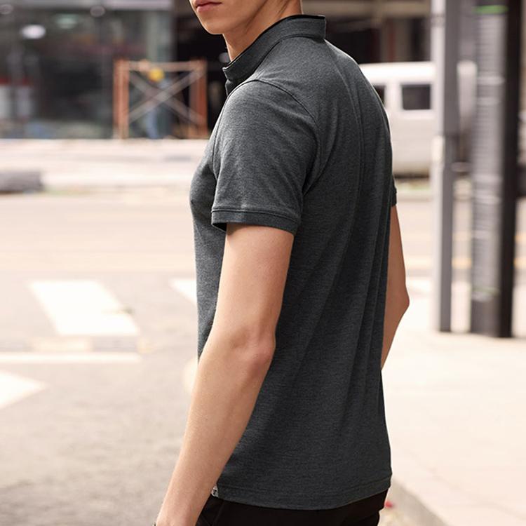Итальянская летняя футболка из хлопка и спандекса, приталенная, с пользовательским логотипом бренда, деловая серая мужская футболка с коротким рукавом