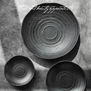 Wholesale black color Ceramic Dessert Plate