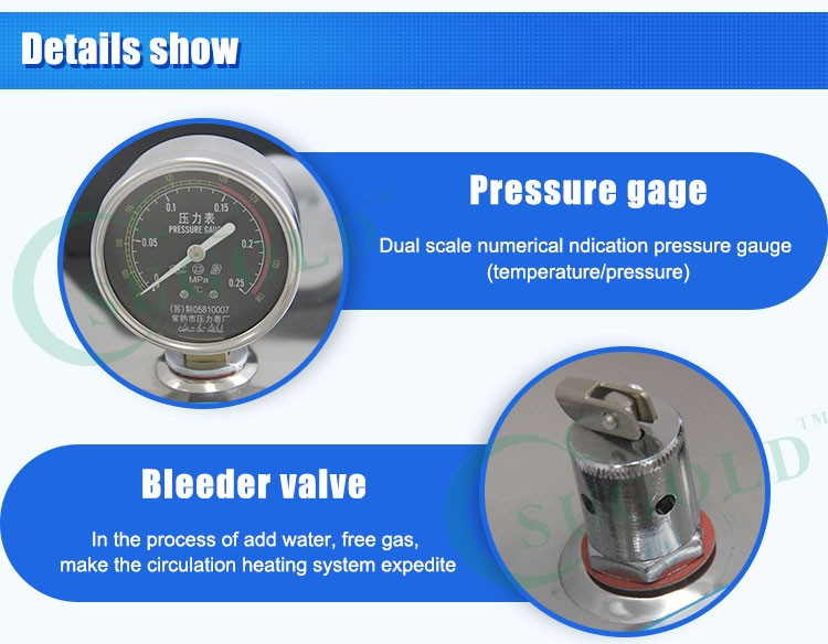 Portable type stainless steel pressure Autoclave 24L sterilizer