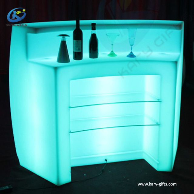 Waterproof Plastic Furniture Led Water Bubble Table Led Bar Counter