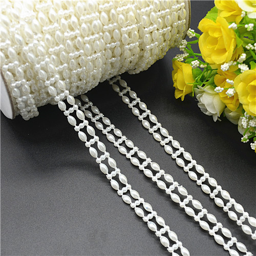 5 metros ligne de p che perles perles cha ne perle d coration fleurs wedding party garland. Black Bedroom Furniture Sets. Home Design Ideas