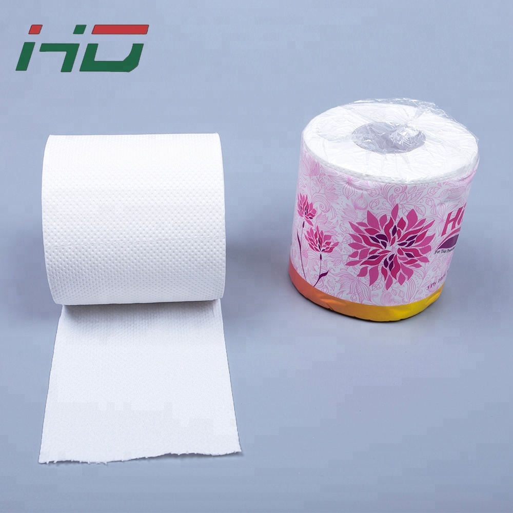 Virgin Wood Pulp Material and 2 Ply Layer 2 ply toilet tissue paper