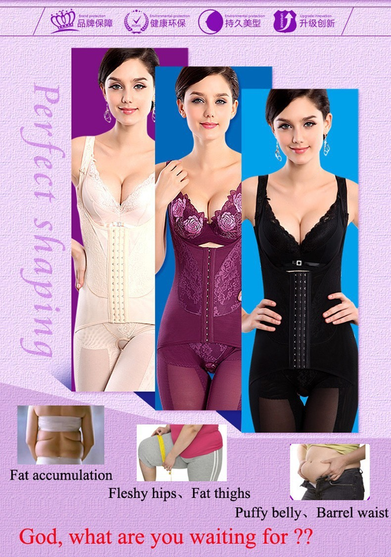 00c87a624459a 2019 Wholesale Fashion Hot Lycra Intimates Full Body Shapers Corset ...