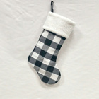 Christmas Stocking Xmas Gireshome Grey Buffalo Check Plaid With Sherpa Cuff Decoration Christmas Stocking Xmas Tree Decor Festival Party Ornament