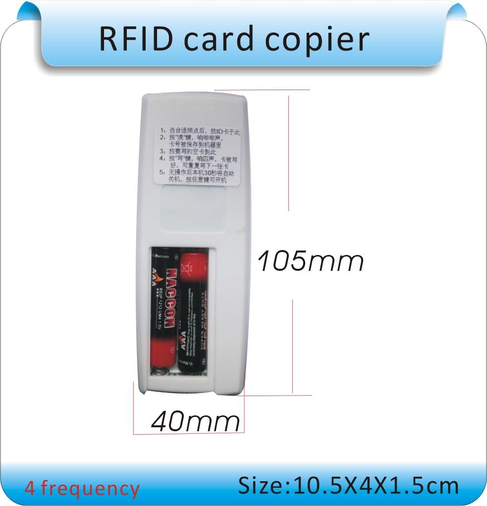 Бесплатная доставка 4 частота rfid-тегов копир / дубликаторы / копирования ID е . м . и писатель + 10 шт. EM4305 записи брелок