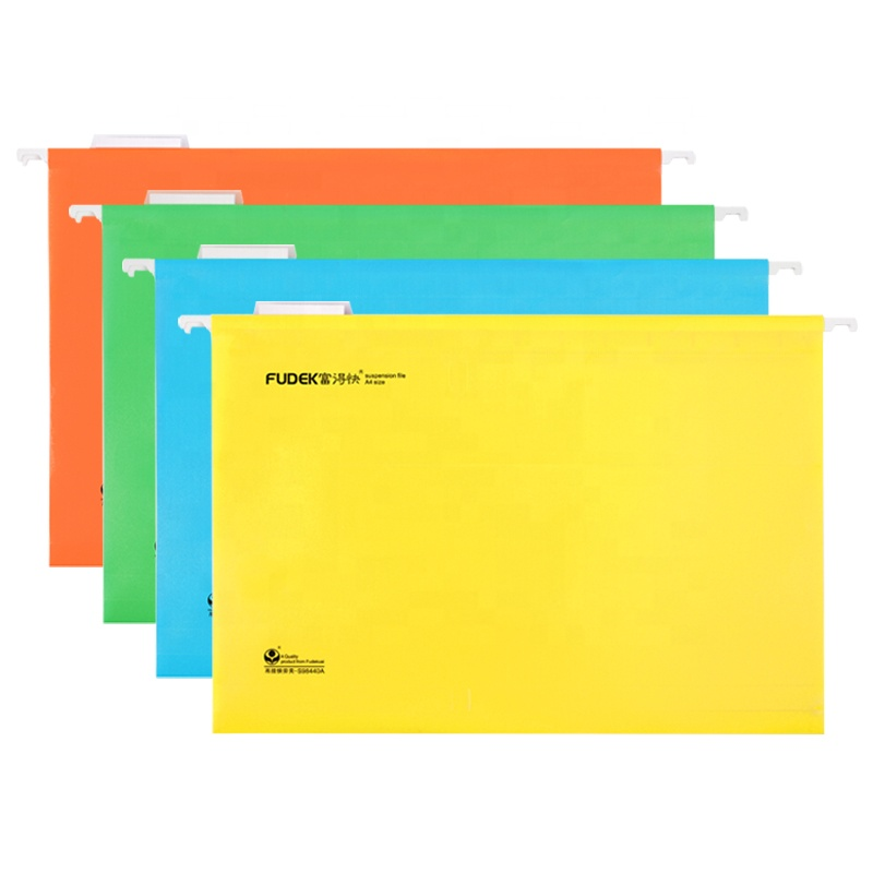 2018 Fudek office stationery paper plastic hanging file folder manufacturer