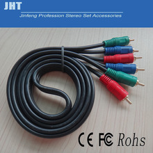 2pcs 3 3 video cable 6 rca video audio cable av line tv set top box tv converter cable