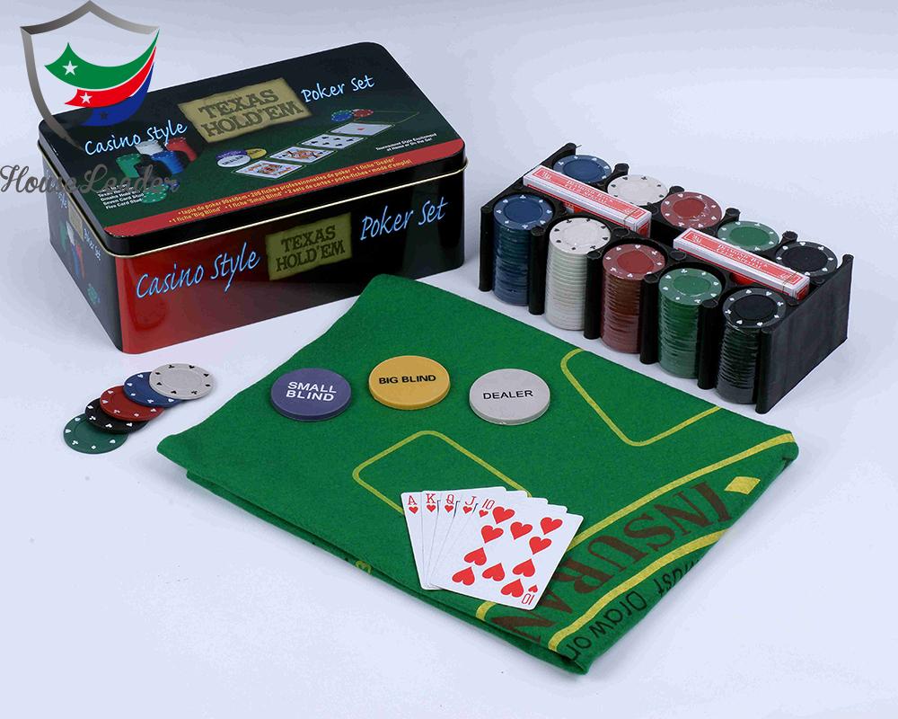Texas Hold/'em Poker Set Casino Style