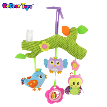 BobearToys baby owl stuffed animal bird butterfly plush baby musical hanging toys plush toys baby crib mobile infant toys