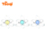 spider music New Design innovative patent silicone Silicone Baby Teether With Rattle