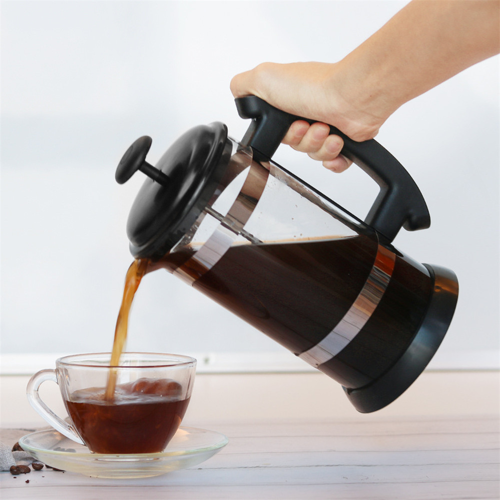 Горячий кофе чайник с фильтрами из нержавеющей стали плунжерный стеклянный инструмент для Moring кофе MDD88(Китай)