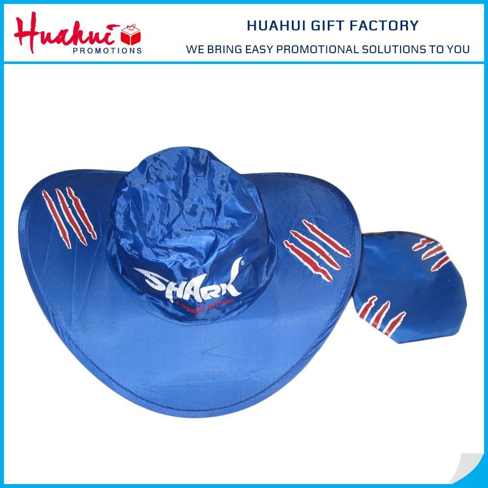 Wholesale High Quality Custom Printed Nylon Foldable wholesale Cowboy Hat