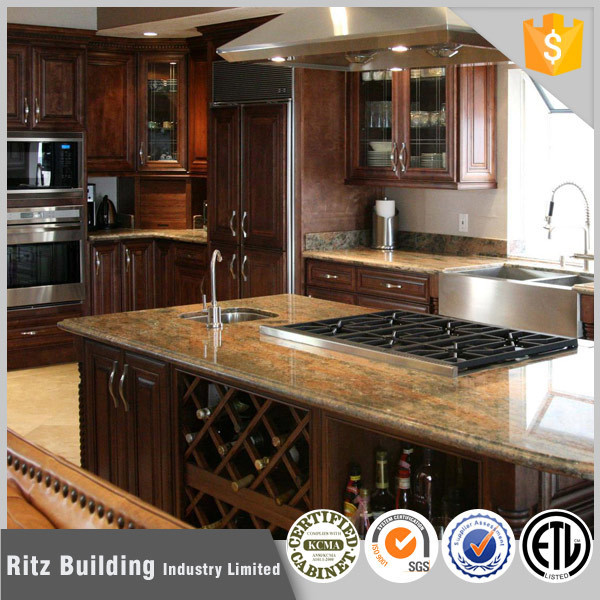 Discount Wood Kitchen Cabinets: Wholesale Price Commerical Solid Wood Kitchen Cabinets