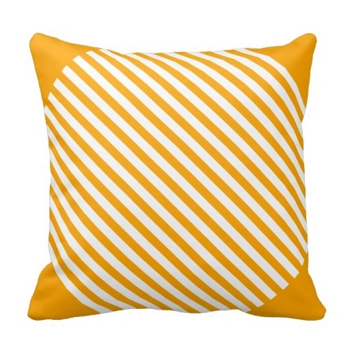 Free Orange Classy Lined Angled Pillow Case (Size: 20