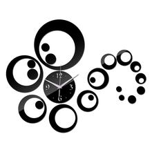 Kreativní nástěnné nalepovací hodiny – kruhy