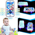 4D English patrol dogs mini toy phone touch screen learning machine baby happy toys education plastic